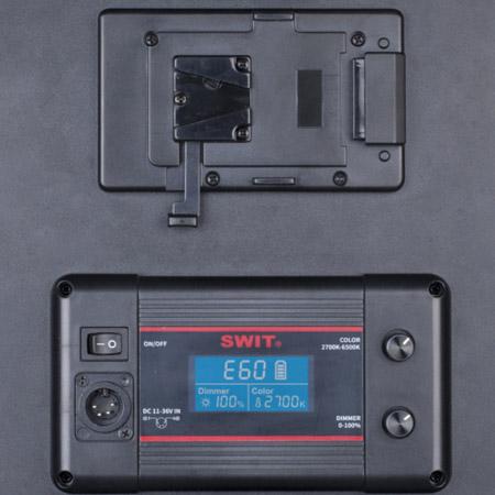 Swit PL-E60 Bi-color LED V-mount battery
